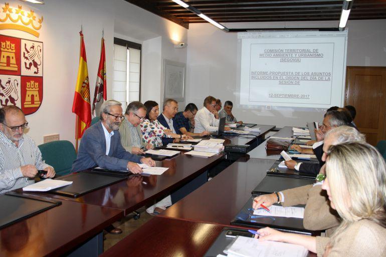 Reunión de la Comisión Territorial de Medio Ambiente y Urbanismo en la delegación territorial de la Junta en Segovia