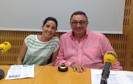 Raquel Ballester (organizadora de las actividades conmemorativas del 10 aniversario de la Marina de València) y Vicent Llorens, director general del Consorcio Valencia 2007