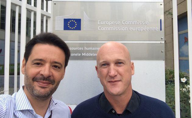 El abogado Miguel Armengot y Andoni Monforte, fundador de Món Orxata en la Comisión Europea