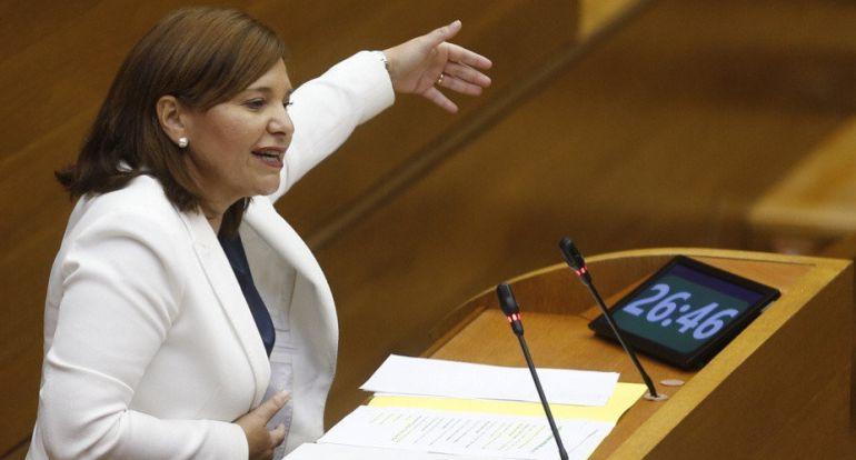 La portavoz del grupo popular, Isabel Bonig, durante su intervención en el debate de política general de la Comunitat Valenciana. Kai Forsterling