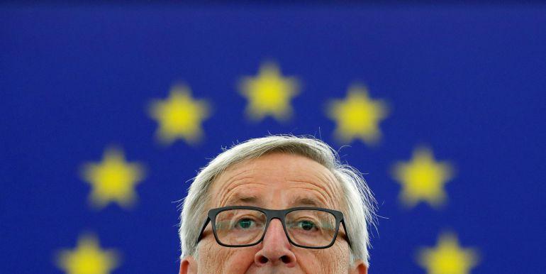 Juncker durante su discurso en Estrasburgo