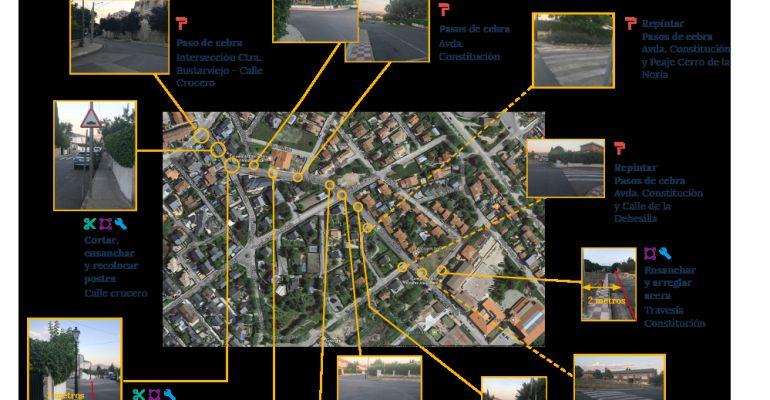Imagen del proyecto Camino Seguro, uno de los finalistas del proceso