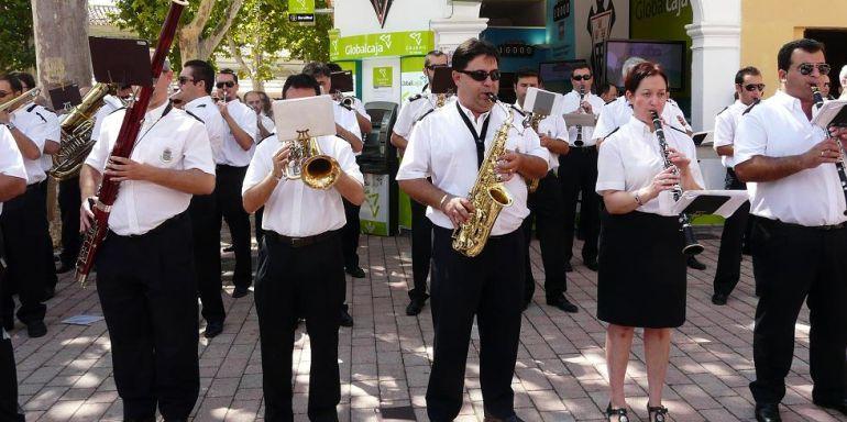 Imagen de la Banda en el Recinto Ferial