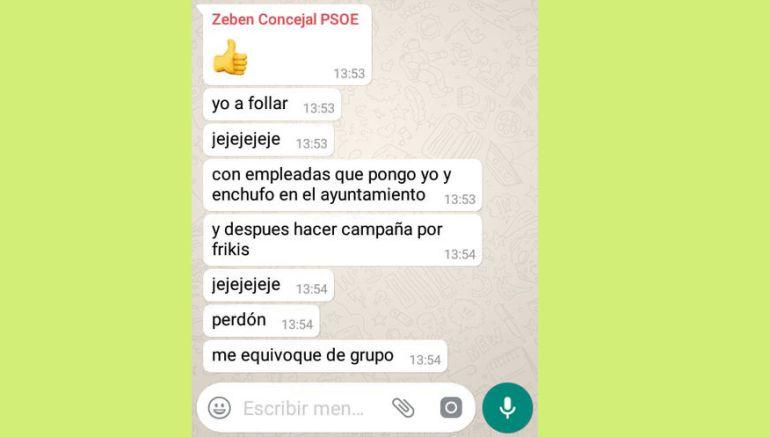 Mensaje de Zebenzui González