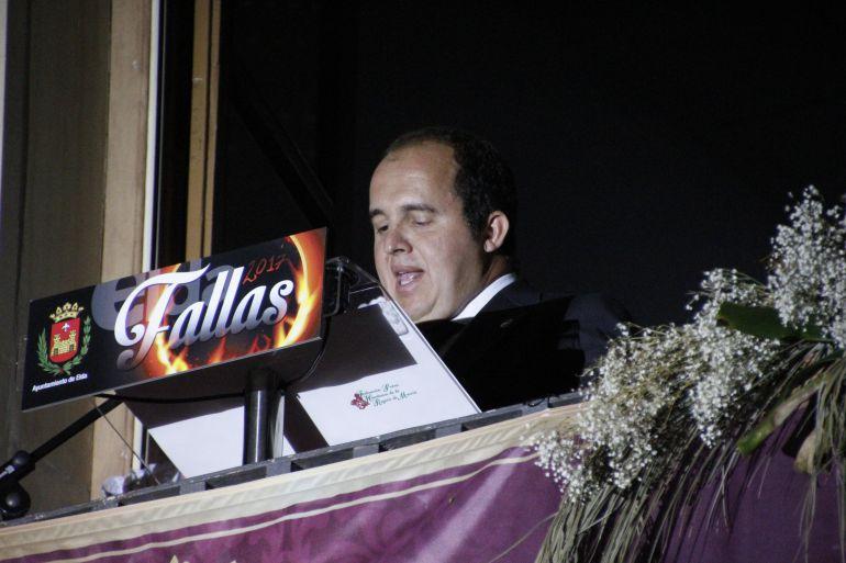Juan Pablo Hernández, pregonero de las Fallas de Elda 2017
