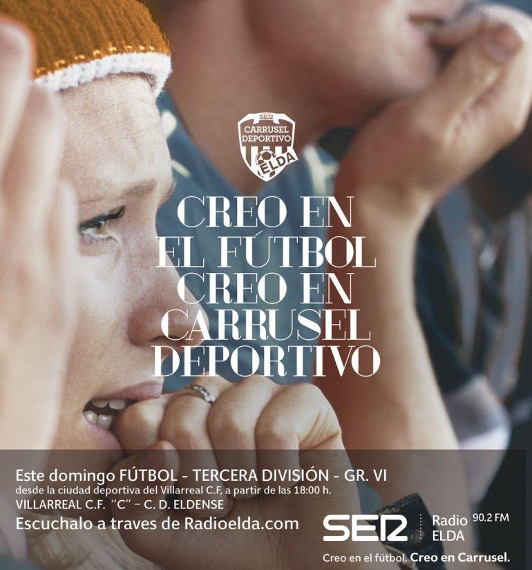 "Villarreal ""C"" - Eldense en www.radioelda.com (D. 18:00 h)"