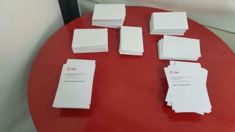 Papeletas de las primarias del PSdeG