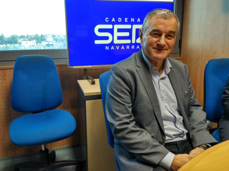 Dámaso Molero, director general de 3P Biopharmaceuticals, en los estudios de Radio Pamplona