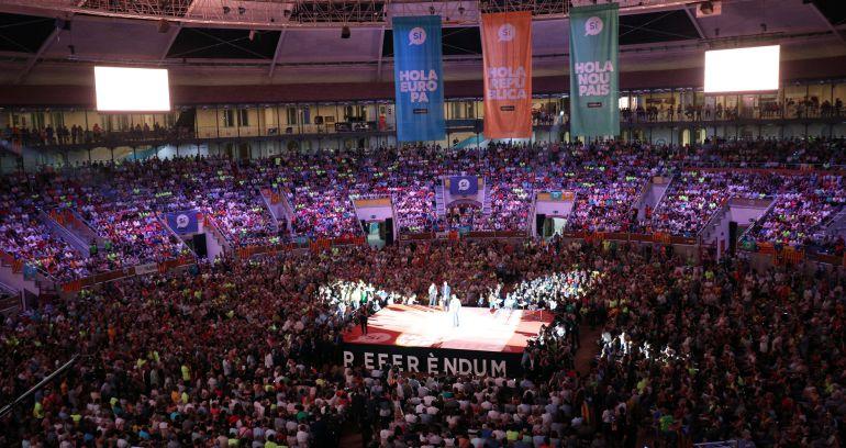 Acto organizado por los independentistas en el Tarraco Arena de tarragona.