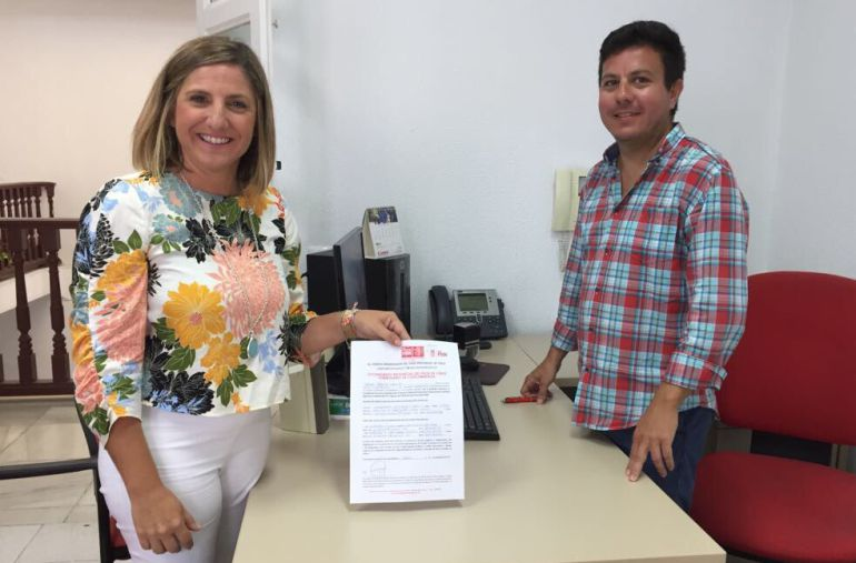 Irene García, cuando anunció su precandidatura a la secretaría provincial del PSOE de Cádiz