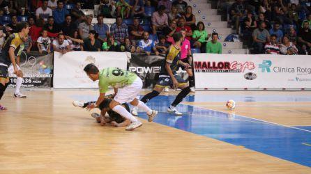 Un momento del encuentro entre el Jaén Paraíso Interior y el Palma Futsal.