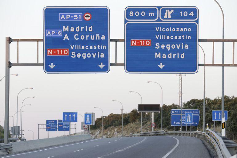 Carteles en la autopista