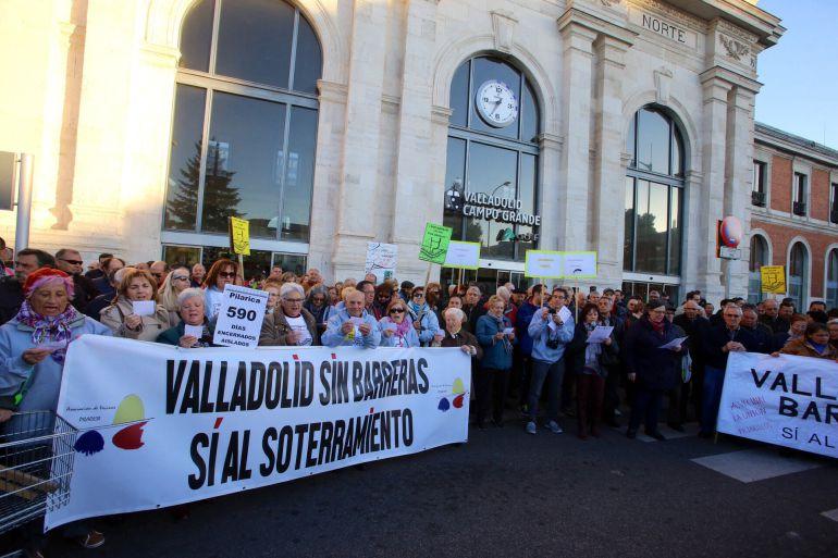 Reciente manifestación a favor del soterramiento en Valladolid