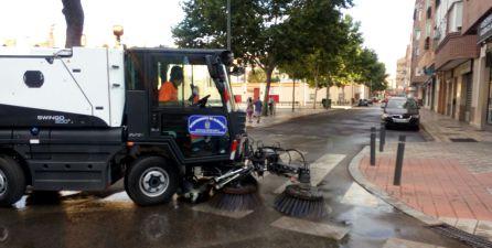 Así se limpia la Feria de Albacete