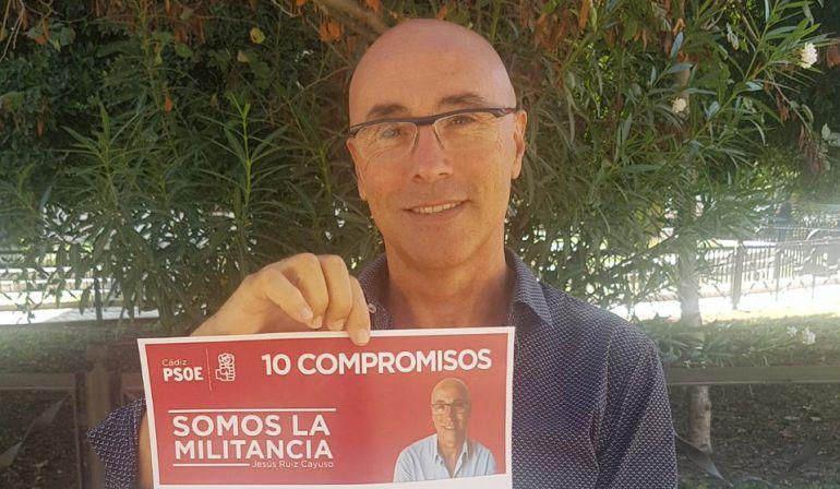 El aspirante a secretario provincial del PSOE de Cádiz, Jesús Ruiz Cayuso