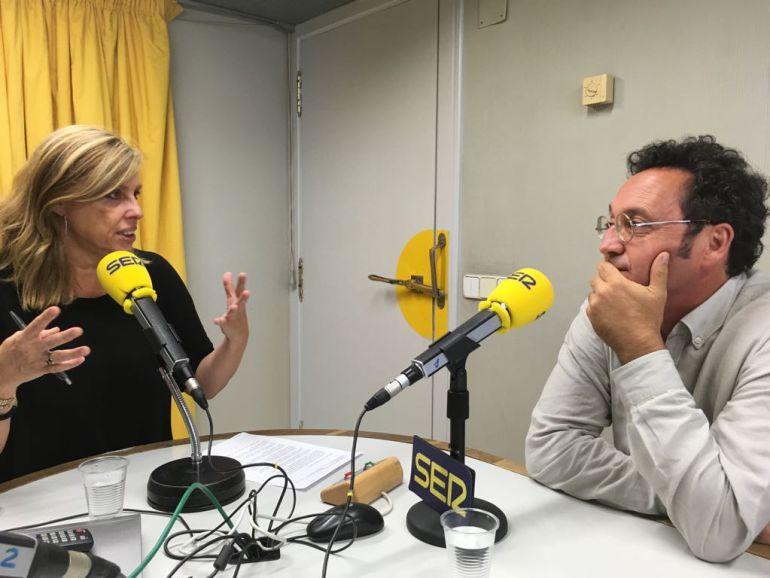 El fiscal Álvaro García Ortiz con Aida Pena en Radio Galicia