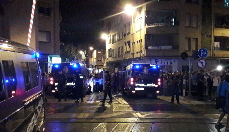 El detenido por agredir a dos jóvenes y a dos policías en Murcia pasa este lunes a disposición judicial