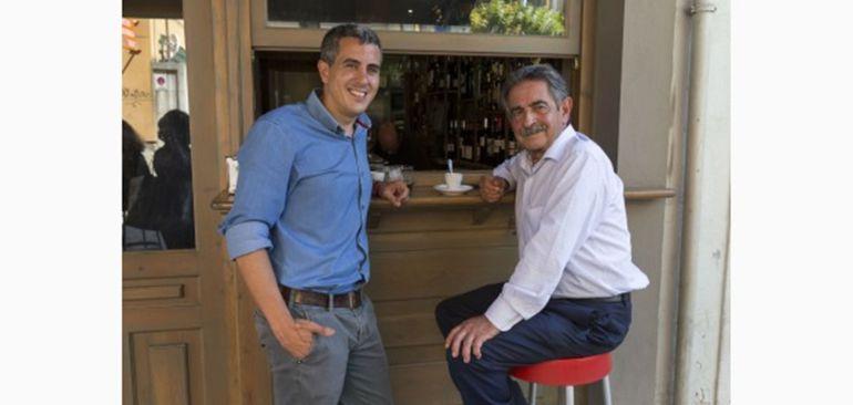 Miguel Ángel Revilla junto a Pablo Zuloaga en un encuentro que mantuvieron hace unos días.