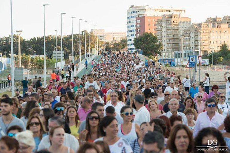 Un momento de la multitudinaria manifestación Por Una Sanidad Digna celebrada en Algeciras.