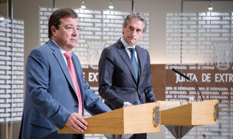 Reunión entre el Presidente de la Junta de Extremadura y el Ministro de Fomento
