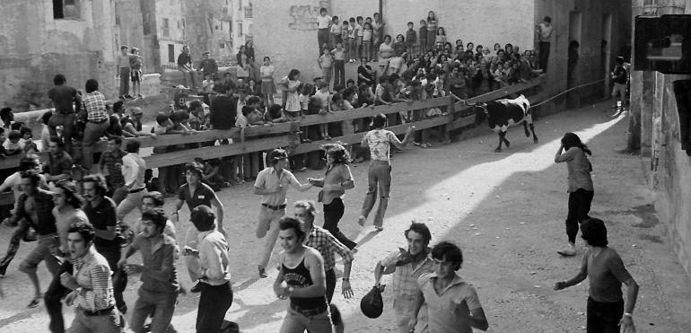 Vaquillas en Cuenca en 1974.