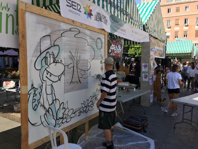 Graffiteros del Huerto Solidario La Fuensanta