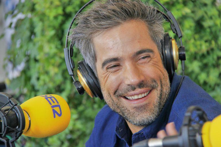 El actor Unax Ugalde, durante la entrevista que ha concedido a Hoy por Hoy San Sebastián.