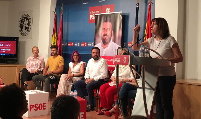 Acto de José Luis Blanco en la Casa del Pueblo en Albacete capital