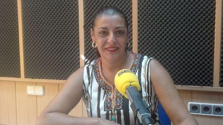 Lola Ponce durante la entrevista en Hoy por Hoy