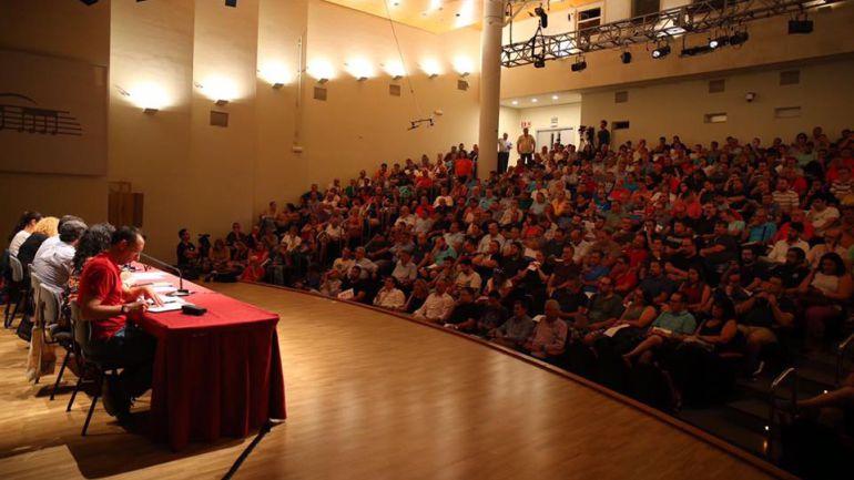 Foto de archivo de una de las últimas asambleas de presidentes de Fallas sin la presencia de Pere Fuset