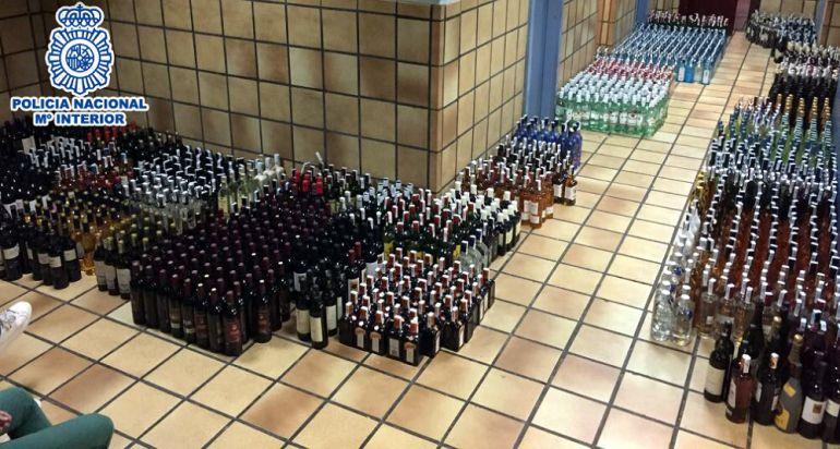 La Policía encontró más de 2.000 botellas en el establecimiento