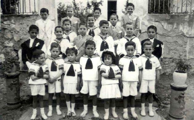 Niños de la Primera Comunión.