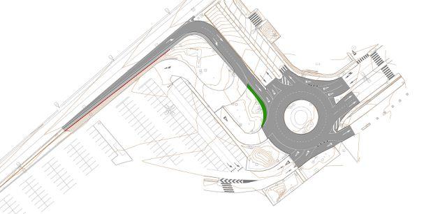 Plano del nuevo acceso al polígono La Dehesa
