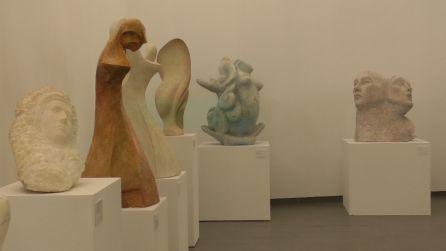 Algunas de las esculturas donadas por el artista artista Miguel Fuentes del Olmo, catedrático emérito de la Universidad de Sevilla y Medalla de Andalucía
