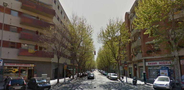 Una panorámica de la calle Llull de Barcelona, donde se han producido los hechos
