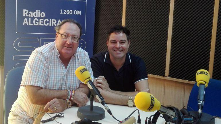 Con Juan Carlos Ocaña director de la Orquesta Sinfónica de Algeciras.