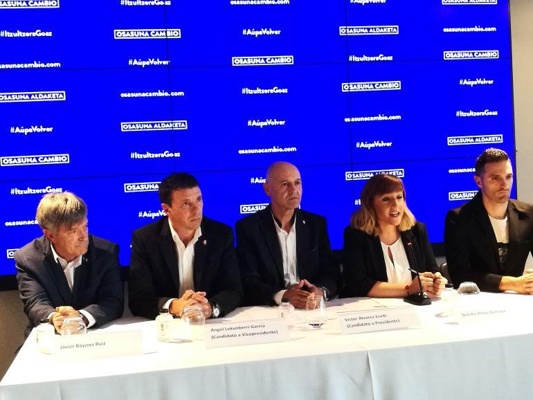 Los 5 miembros que componen por ahora la precandidatura de Osasuna Cambio