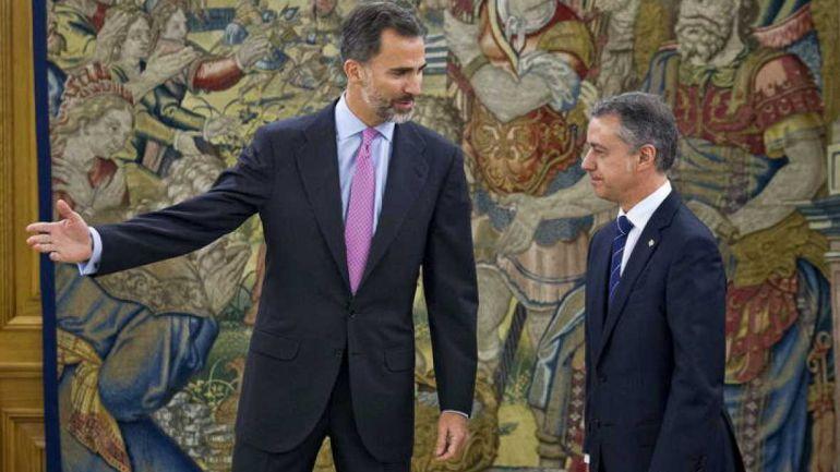 Urkullu, decepcionado con el discurso del rey sobre la situación en Cataluña