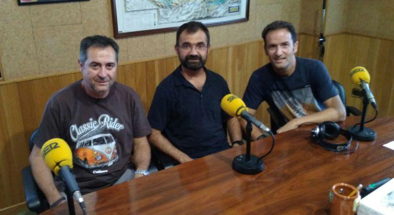 Los protagonistas de este programa de SER Runners en el estudio de SER Cuenca.