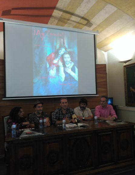 Presentación en el ayuntamiento de Cazorla del estreno nacional de ¡Ay Carmela!