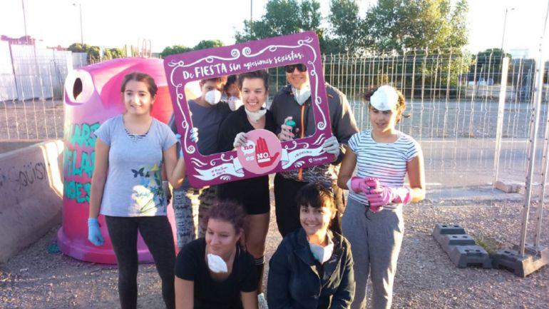 Actividad 'No es No' en el Parking Norte para los más jóvenes