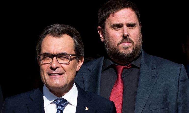 Artur Mas y Oriol Junqueras en una foto de archivo de 2014