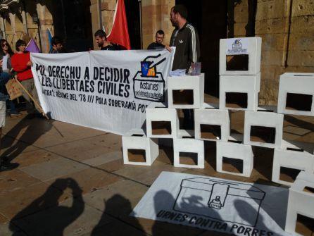 Urnas de Asturies Pol Derechu a Decidir