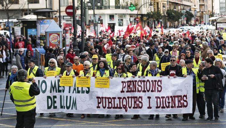 Manifestación por unas pensiones dignas en febrero