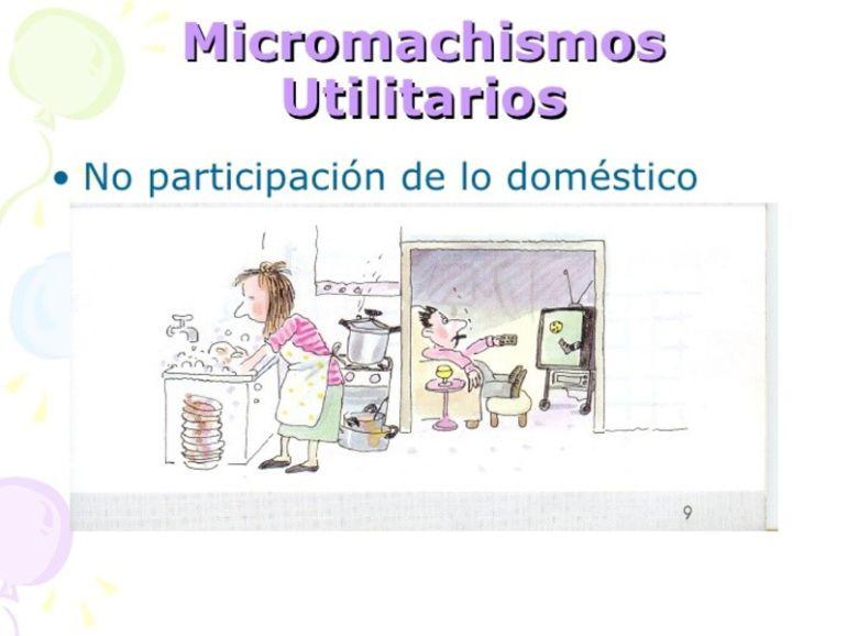 Micromachismos utilitarios