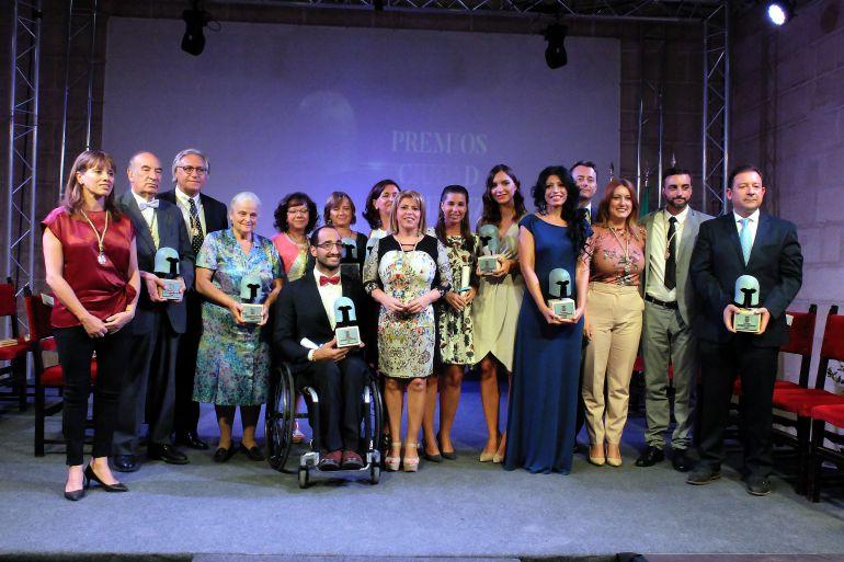 Imagen de los distinguidos con los Premios Ciudad de Jerez 2017