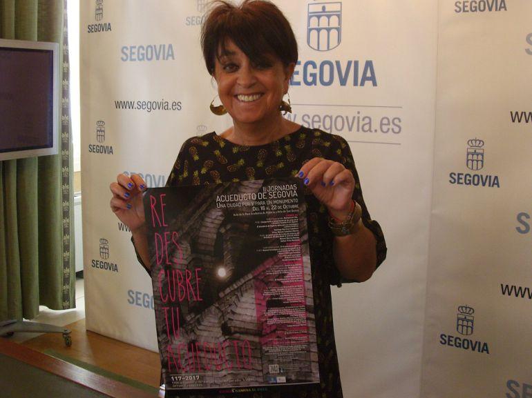 La concejala de Patrimonio, Claudia de Santos, presenta las II Jornadas Acueducto de Segovia.