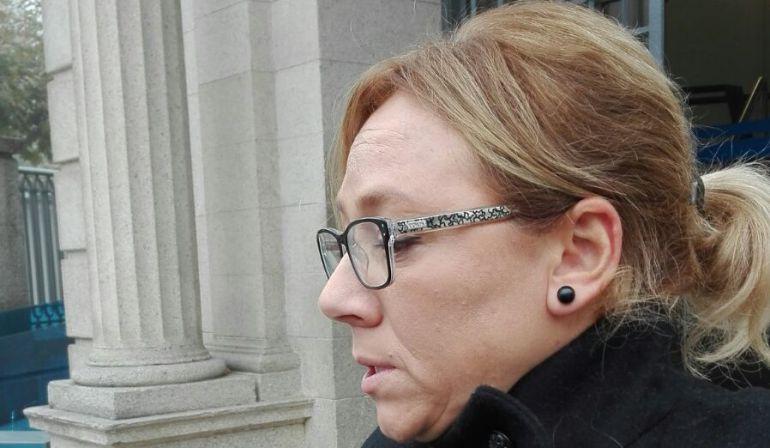 Amelia Saavedra, abogada del acusado, a la salida del juicio este martes