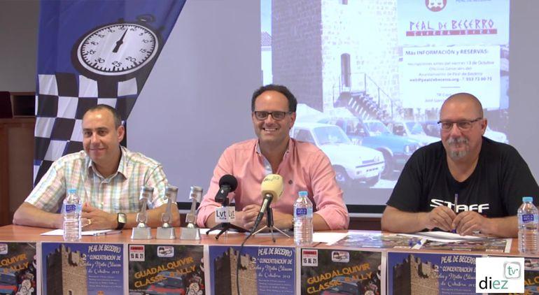 Momento de la presentacion de la Rally Classic que se celebrará el 15 de octubre en Peal de Becerro
