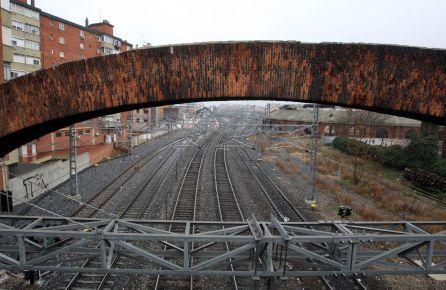 Las vías férreas desde el Arco de Ladrillo